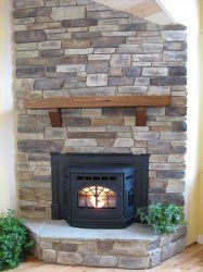 built in with in fireplace pellet stove - Google Search