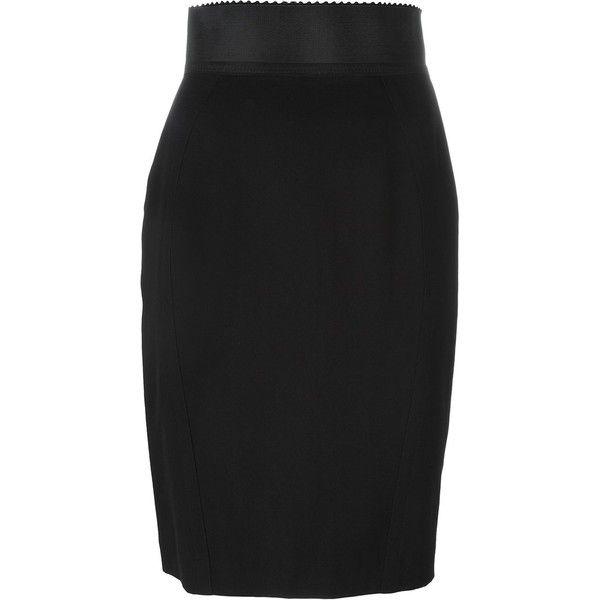 Jean Paul Gaultier Vintage Short Pencil Skirt ($179) ❤ liked on Polyvore featuring skirts, black, vintage pencil skirt, high waisted pencil skirt, pencil skirt, elastic waist skirt and short skirts