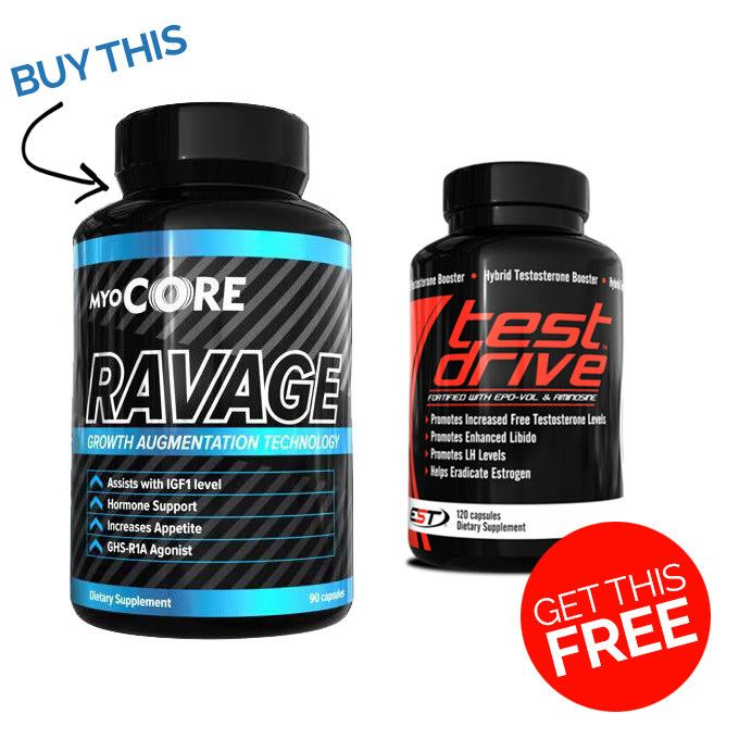 Ravage Muscle Builder Get TEST Drive FREE - Second To None Nutrition