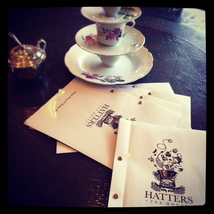 Menus at Hatters Tea House, Ettalong Beach
