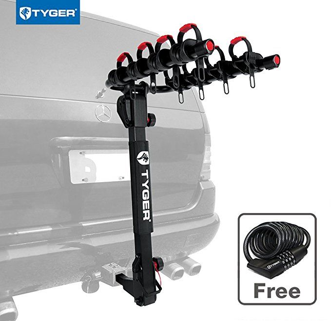 Tyger Auto Tg Rk4b102b Deluxe 4 Bike Carrier Rack Fits Both 1 1 4