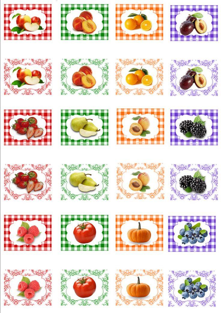etichette labels per marmellate
