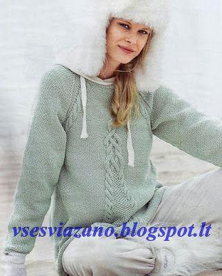 ВСЕ СВЯЗАНО. ROSOMAHA.: Пуловер-реглан мятного цвета и А-образного силуэта.