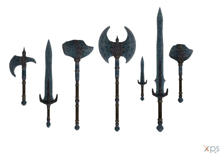 Skyrim - Stalhrim weapons by Tiffli.deviantart.com on @DeviantArt