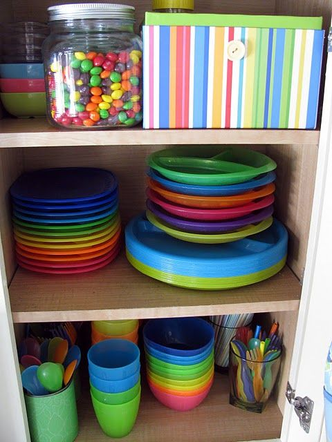 Organizing Kid Dishes And Utensils We Have A Huge Cabinet