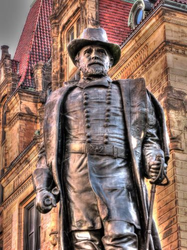 U.S. Grant statue in front of St. Louis, MO city hall