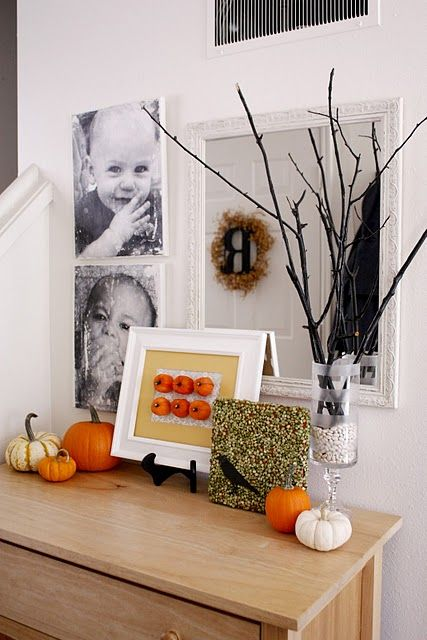 Halloween decorating for cheap...Like the black branches.