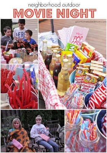 Neighborhood Movie Night and Treat WagonFun Summer, Birthday Parties, Neighborhood Outdoor, Boys Movie Party, Neighborhood Movie, Parties Ideas, Outdoor Movie Nights, Birthday Movie, Treats Wagon