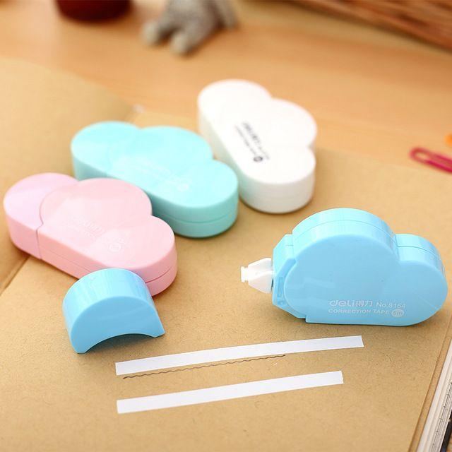 1 x fita corretiva Forma Nuvem criativa kawaii material escolar coreano papelaria material escolar papelaria