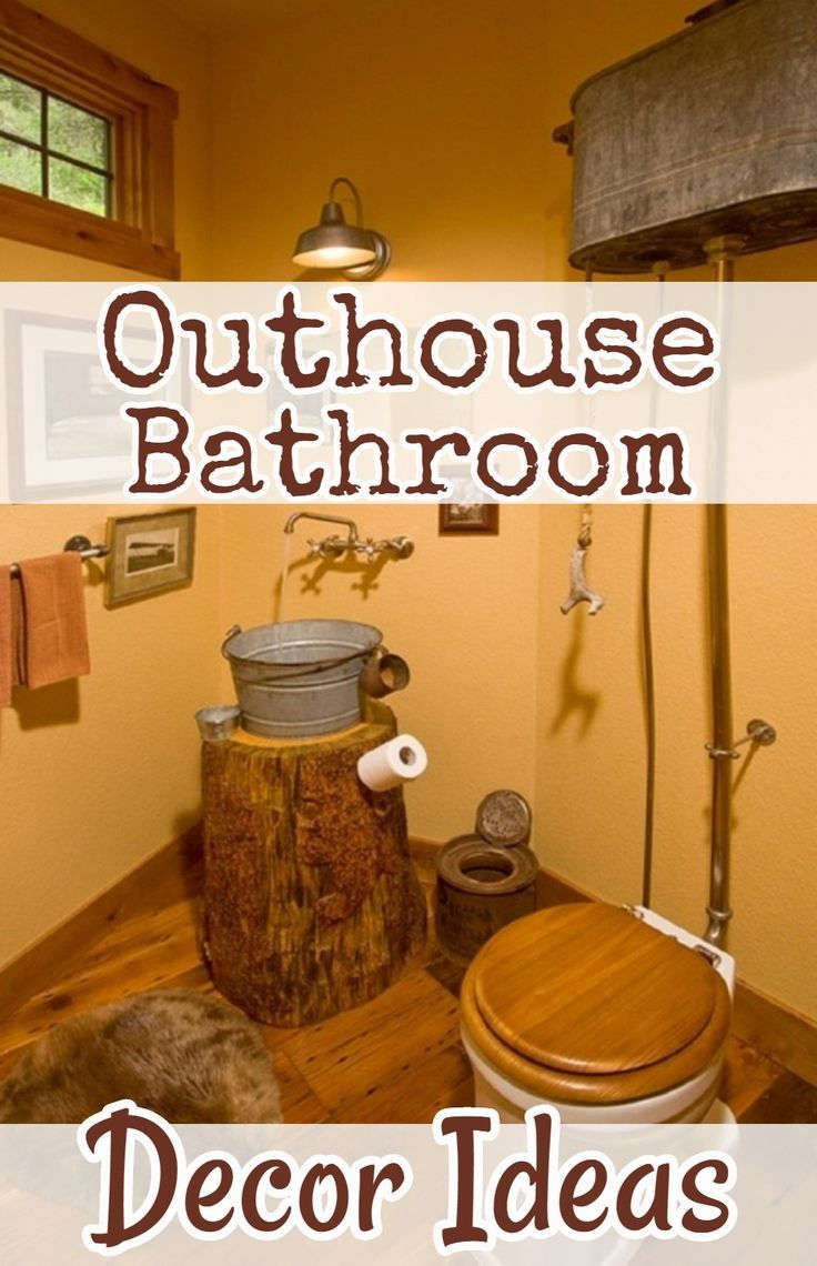 Country Outhouse Bathroom Decor Redecorating Ideas