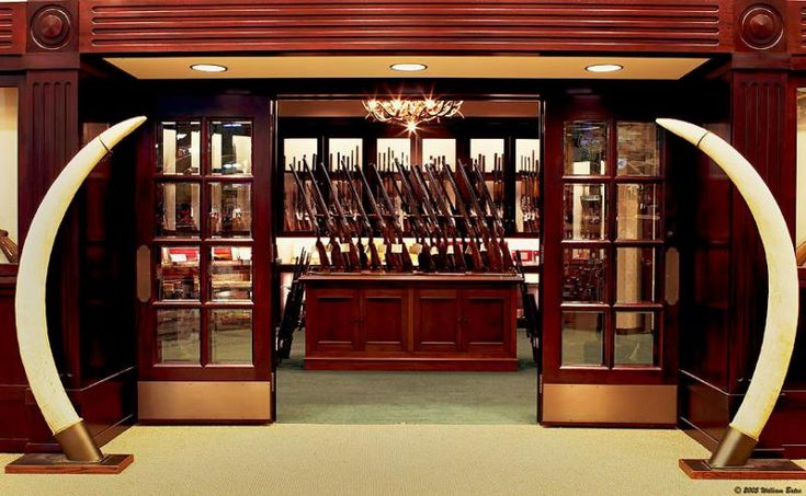 gun room - oh how I wish we could have this for Toby