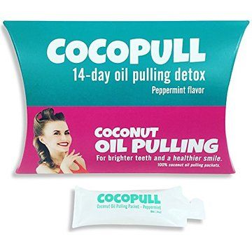 Cocopull - Oil Pulling Coconut Oil - Coconut Oil Teeth Whitening - 14 Packets with Coconut Oil for Teeth, Helps Remove Coffee Stains on Teeth and Prevents Bad Breath - FREE EBOOK With Order
