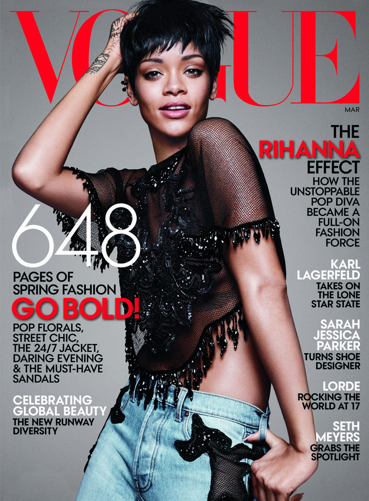 The Rihanna Effect: Fashion's Most Exciting Muse, On Her Third Vogue Cover - Magazine