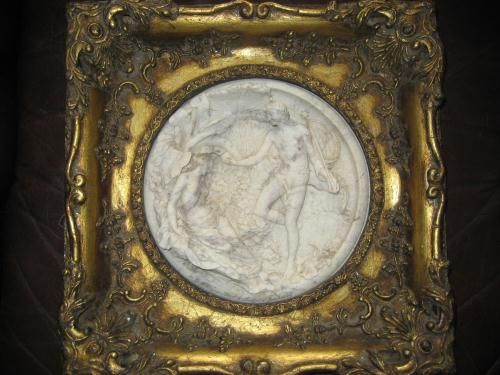 Carved Marble Roundel inscribed E.W. Wyon, Dest & Sculpt Jan 1848 ( Wall Plaque, Sculpture ) in Tunbridge Wells, YI433H744 | Friday-Ad Classifieds