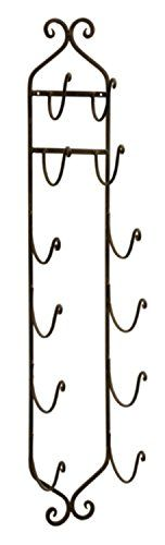 Wine Racks - 41 Ornate Wall Mounted Wrought Iron Towel and Wine Rack ** Click image to review more details.