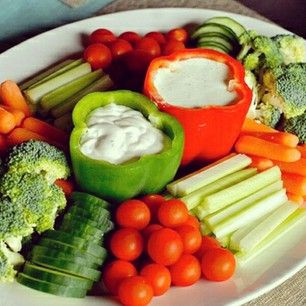 Awesome veggie tray...  Do this with Hummus
