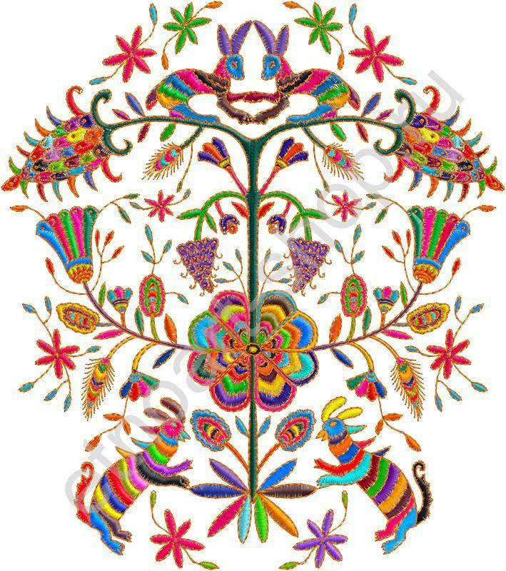 Сумка холщовая с рисунком «Вышивка. Радужные цветы»