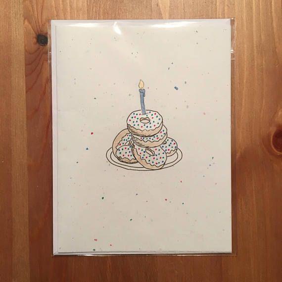 celebratory donut card