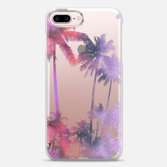 Casetify iPhone 7 Plus Case and iPhone 7 Cases. Other Neon Palms iPhone Covers - Watercolor Palm Trees Purple Sunset by Overstand Originals | Casetify