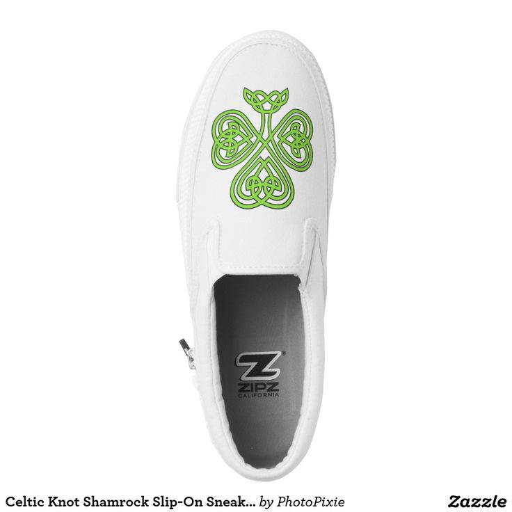 Celtic Knot Shamrock Slip-On Sneakers