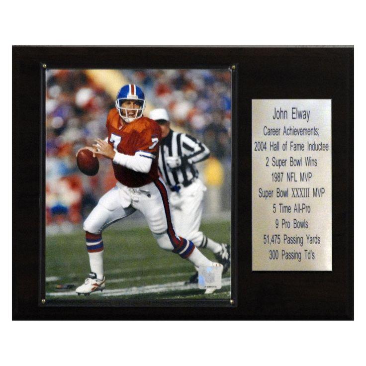 NFL 12 x 15 in. John Elway Denver Broncos Career Stat Plaque - 1215ELWAYST