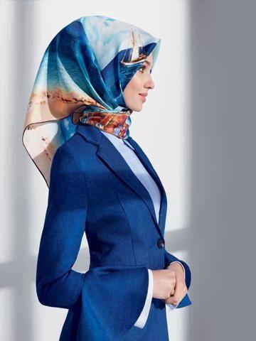 Armine Converse Silk Hijab - Beautiful Hijab Styles