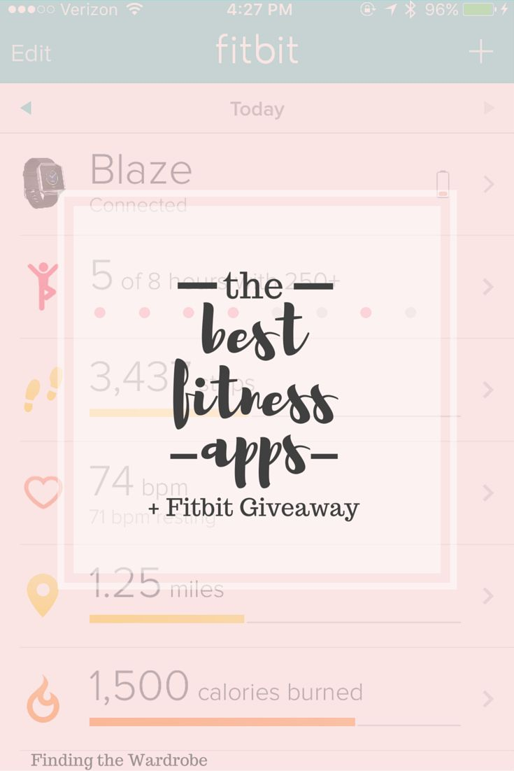 The Best Fitness Apps  Fitbit Charge HR Giveaway!