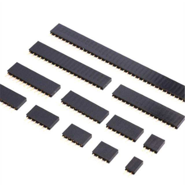 10Pcs 2.54mm 40 Pin Female Single Row Pin Header Strip Good Quality