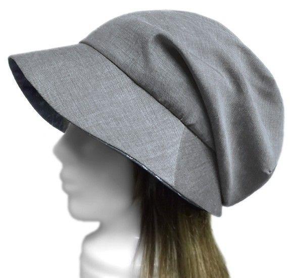 【おすすめポイント】・オリジナルデザインの女優帽子・薄手でサラッとしたダンガリー調のツイル地で、清涼感のある風合い・深めに被れるふんわりしたトップと、顔を包む...|ハンドメイド、手作り、手仕事品の通販・販売・購入ならCreema。