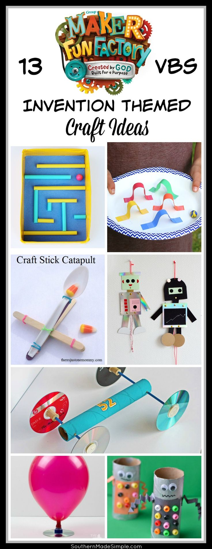 257 best maker fun factory vbs 2017 images on pinterest sunday 13 maker fun factory craft ideas vbs invention inspired craft ideas robot craft ideas malvernweather Choice Image