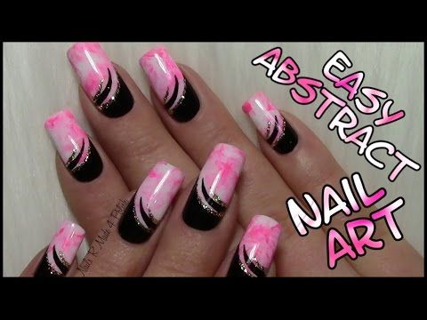 Water Marble Nails black & white / Buntes Glitzer Silvester Nageldesign/ Nägel lackieren - YouTube