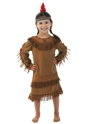 Indian costume @Sara Eriksson Brudnicki...this is cute, but would be harder to make bc there's a lot more sewing...unless you can find a brown shirt, then we could just sew the trim/fringe on.