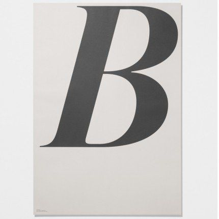 Graphic poster with the letter B from The Danish concept store PlayType is now available at Skandivis. A perfect gift for any lover of design, fonts and type face Dimensions: 70cm x 100cm. Printed on uncoated paper 120g in Pantone Colours.