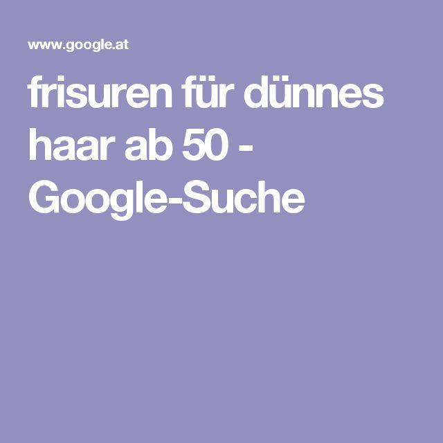 frisuren für dünnes haar ab 50 - Google-Suche