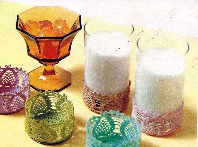 Patrón #1017: Juego de Fundas Para Vaso a Crochet   CTejidas [Crochet y Dos Agujas]