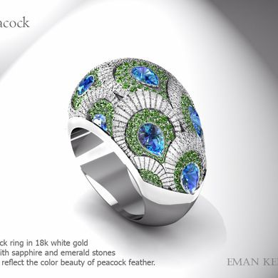 Peacock - Ring ...pinned by ♥ wootandhammy.com, thoughtful jewelry.