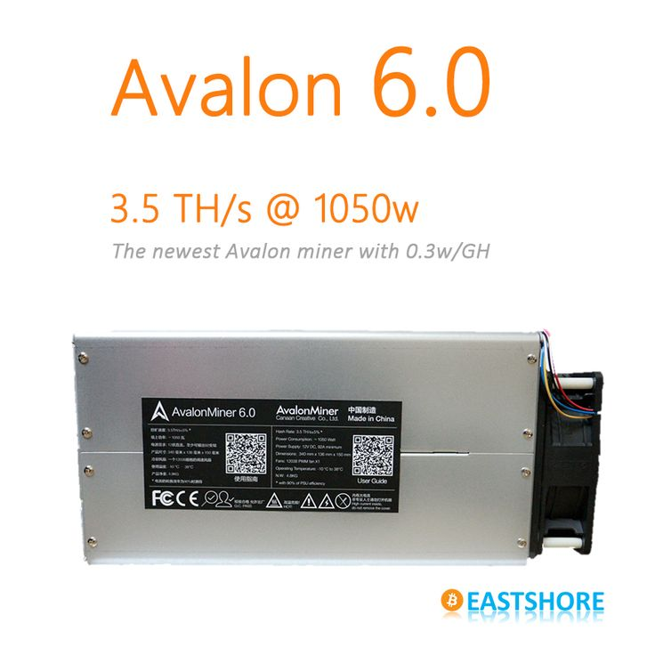 [SOLD OUT] Bitcoin Miner Avalon 6 3.5TH Asic Miner 3500GH Newest Btc Miner Better Than Antminer S5(China (Mainland))