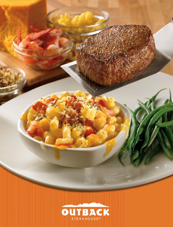 A Perfect Pair From Outback Steakhouse Our Sirloin New Lobster Mac N Cheese