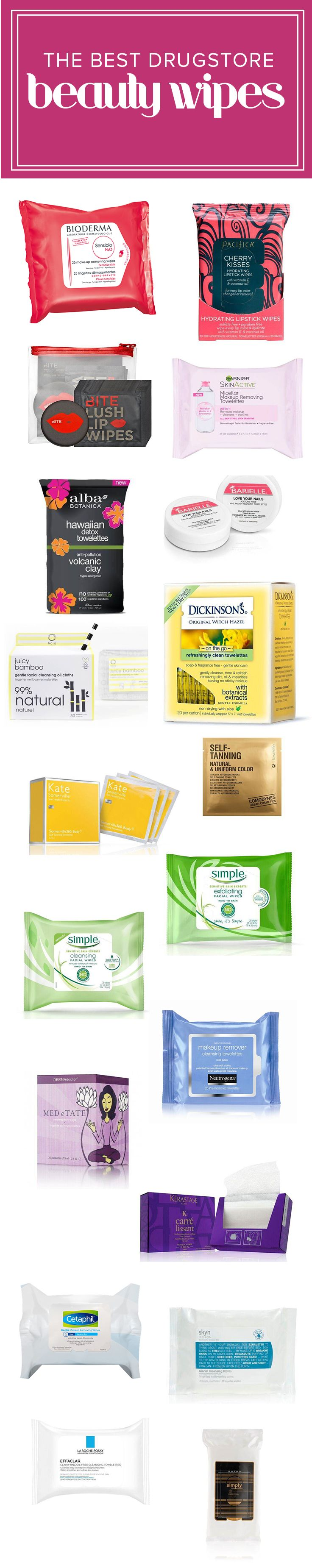 These drugstore wipes can be used for cleaning, removing makeup and exfoliating. They're all affordable and great for traveling.