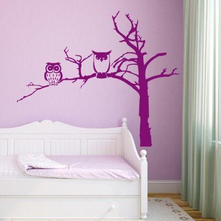 Eulen sind Nachtaktive Tiere, von daher passt das Wandtattoo perfekt in dein Schlafzimmer.. #Eule #Baum #Wadeco // http://www.wadeco.de/eulen-suess-und-boese-baum-wandtattoo.html