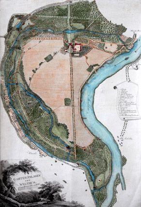 grafika parku z roku 1820