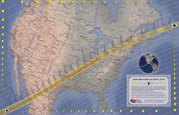 The next Great North American Eclipse will take place on April 8, 2024 and will cross diagonally from Mexico to the U.S. and to the maritime provinces of Canada. (Photo: Michael Zeiler/www.greatamericaneclipse.com)
