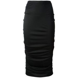 GIVENCHY gathered pencil skirt