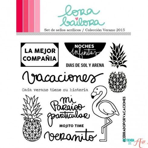 Set de sellos acrílicos Verano 2015 Lora Bailora
