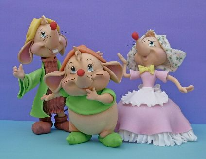 Mice from #Disney Cinderella #cake #topper