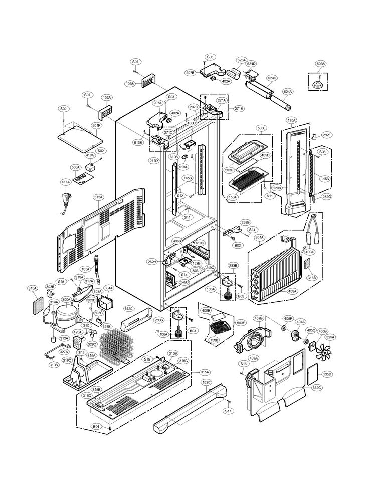 refrigerator schematics refrigerators