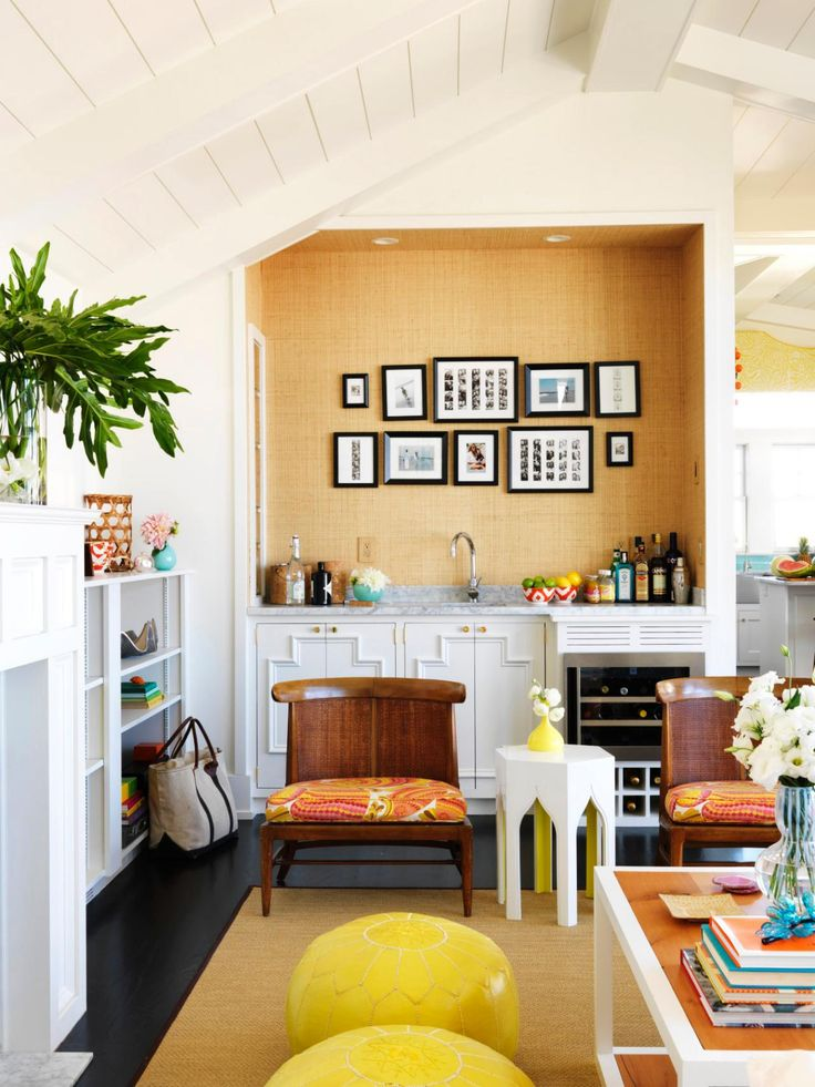 Mona Ross Berman Uses Happy Shades Of Lemon Yellow And Bright Orange For A  House By