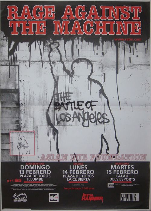 CLASSIC POSTERS - Rage Against the Machine, Tour 2000