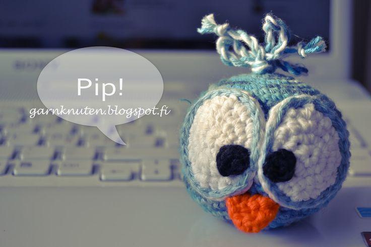 Crochet Birdie, www.garnknuten.blogspot.fi