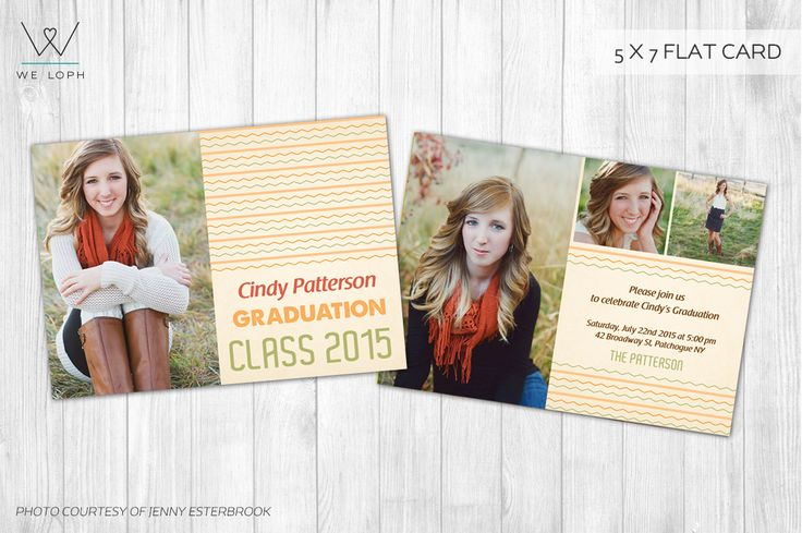 Graduation Announcement Card by We♡Loph on @creativemarket